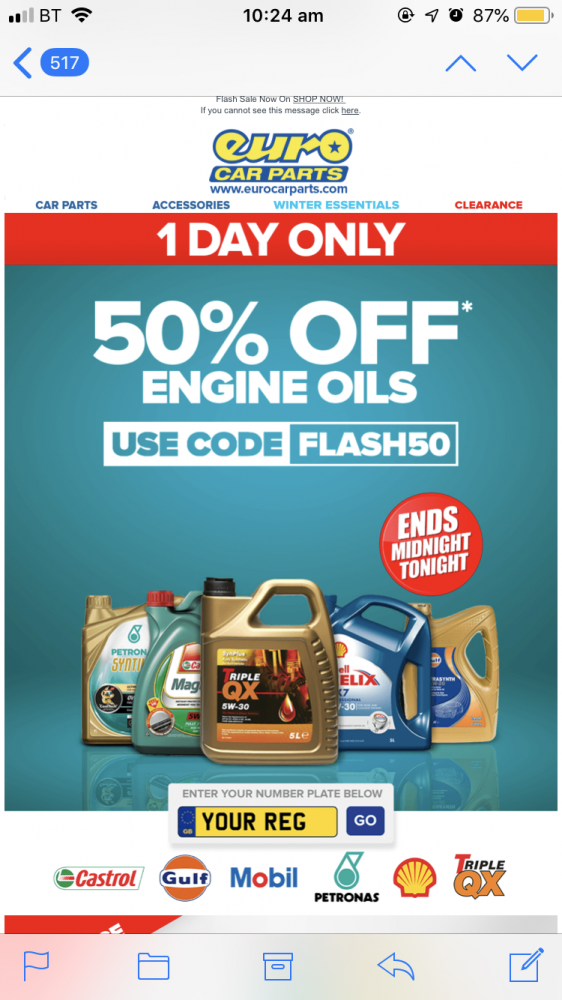 Active Deal Euro Car Parts 50 Off Engine Oil Today Only Rms