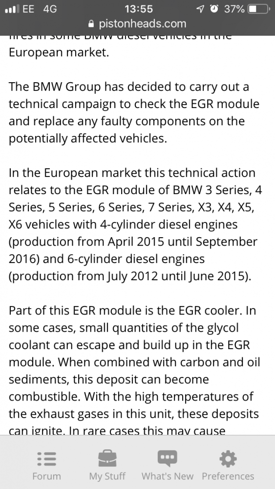 BMW have had car 5 weeks for EGR recall with no progress | RMS