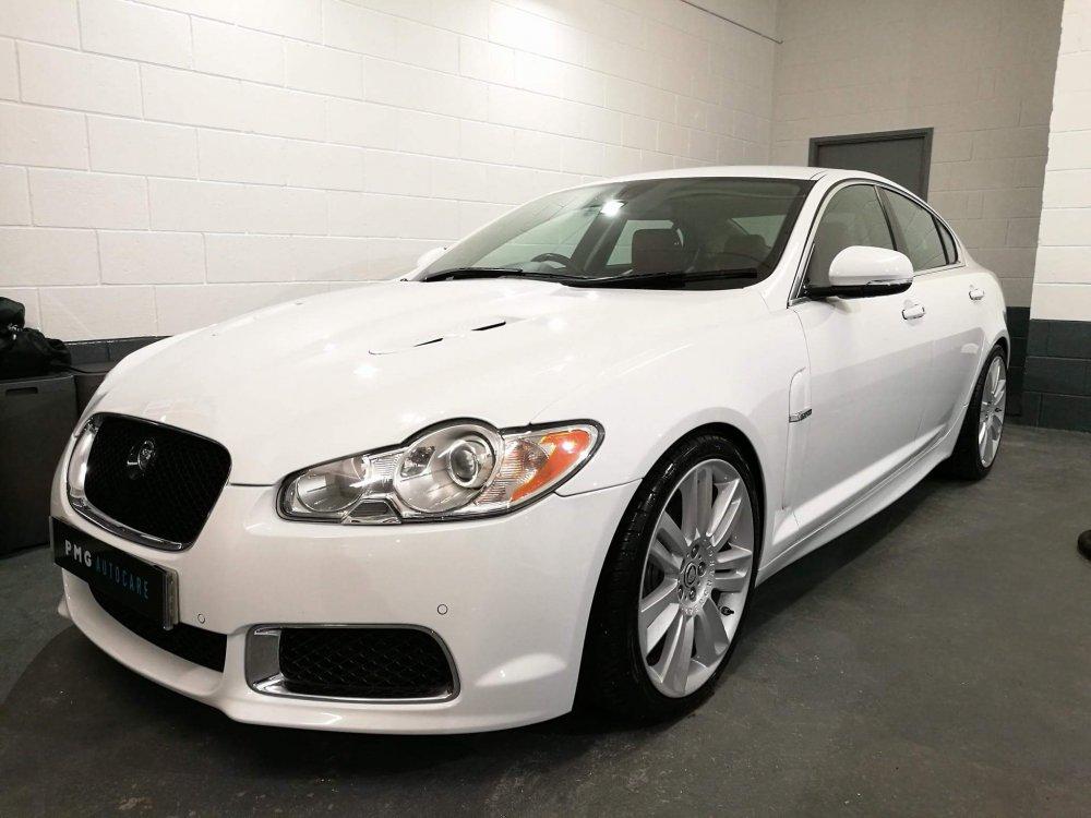 Jaguar xfr s white