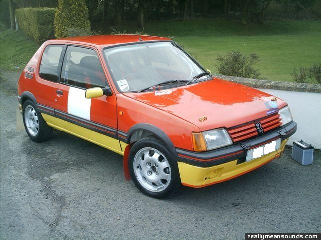Peugeot 205 GTI Rally Car on peugeot 205 gti rally