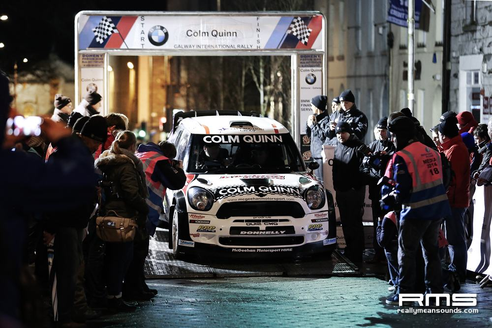 Mini WRC start ramp Galway International Rally 2014