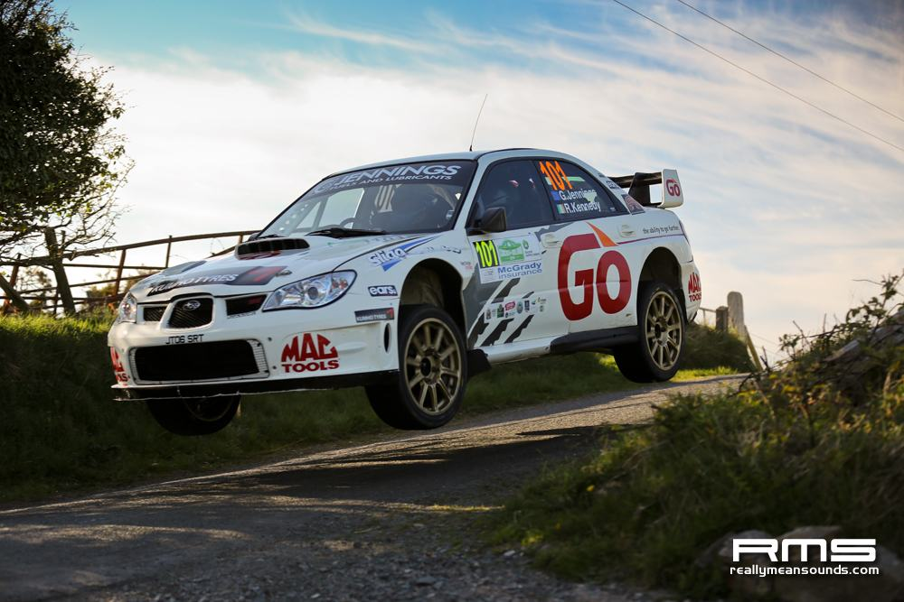 Garry Jennings jump Circuit of Ireland Rally 2014