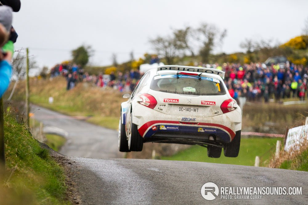 Craig Breen jump Circuit of Ireland Rally 2015