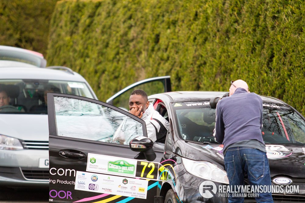 Idris Elba Circuit of Ireland Rally 2015