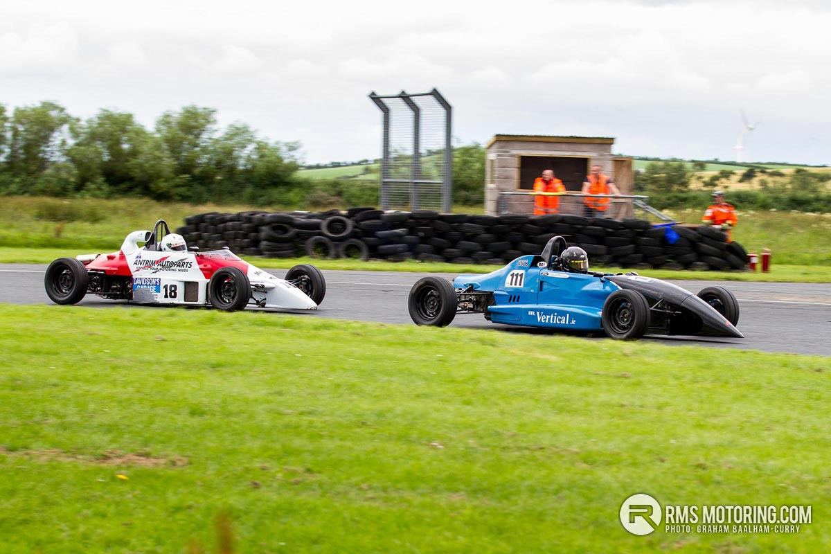David Parks being chased by a hard charging Alan Davidson in their Formula Ford 1600's.(S3)