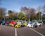 A selection of competing cars and their drivers at the launch of the 2019 ANICC Millers Oils Northern Ireland hillclimb championship.