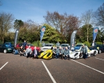 A selection of competing cars and their drivers, along with North Down and Ards Borough Council representatives, Stephen and Gordon Dunne, as well as championship sponsors, John Rice and Murray Harrison of Jem Oils, at the launch of the 2019 ANICC Millers Oils Northern Ireland hillclimb championship.(S3)