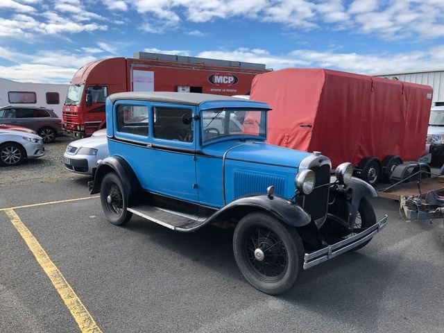 It's not all modern machinery at Kirkistown.  This 1933 Model B Ford is driven every day!(S3)
