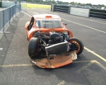 Things didn't go well for Karl O'Brien in the 2nd Ginetta Junior race.