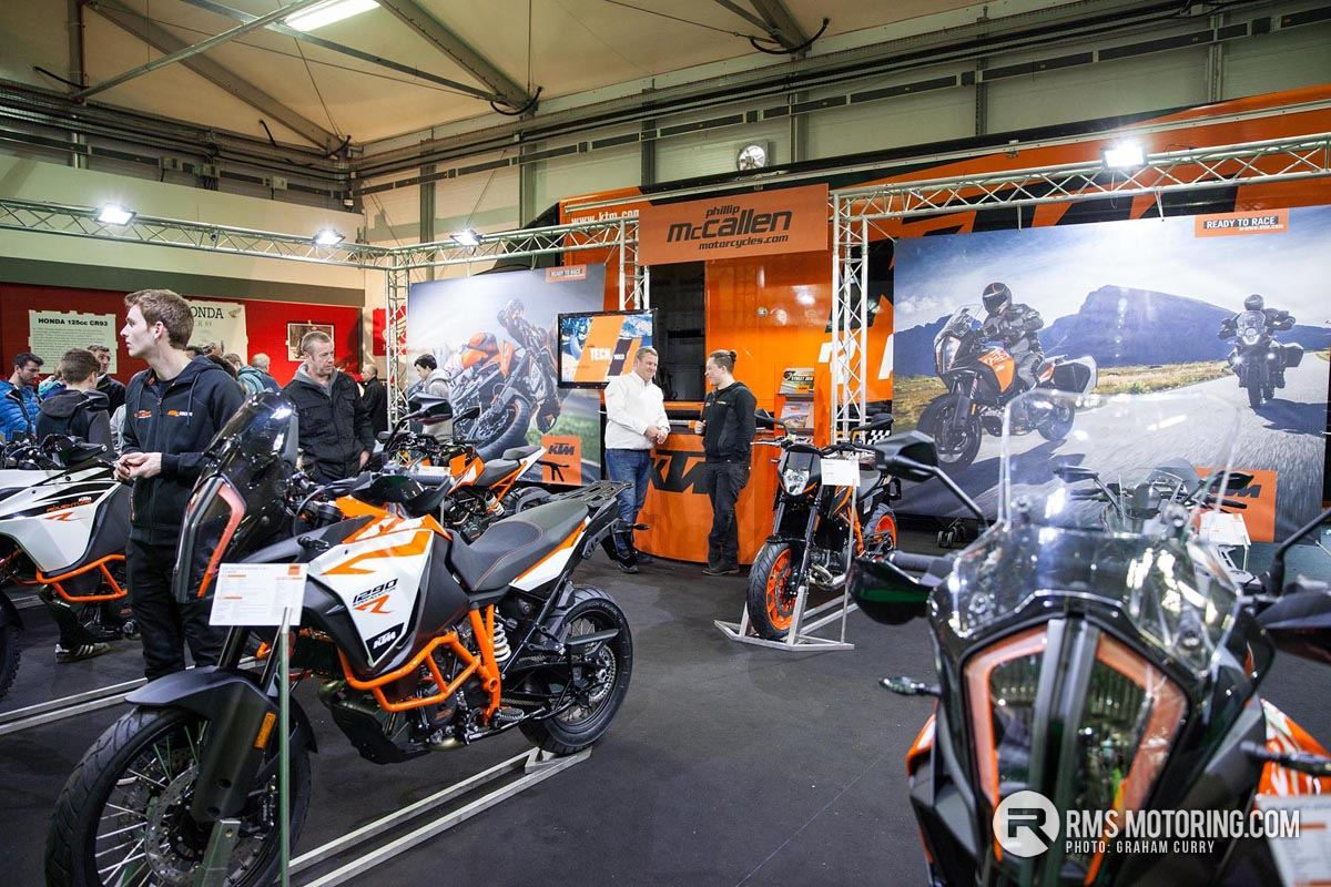 Display of new motorbikes and trade stand NI Motorcycle Festival 2018