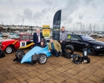 Pictured at the launch of the 2020 S.W. Adair Tyres Northern Ireland Sprint Championship is L-R; Mayor of Ards and North Down, Alderman Bill Keery; Competitor, Portaferry's Brian Fitzmaurice; NI Sprint Championship co-ordinator, David Evans; Championship sponsor, Bill Adair.