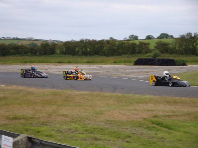 Alan Witherow (27) leading Colin Menary (83) and Stuart Coey (99).(S3)