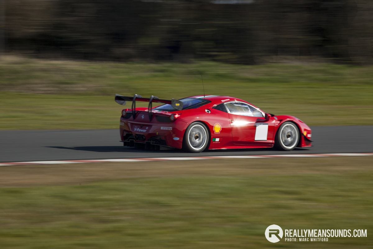 Philip Shields in his race prepared Ferrari 458
