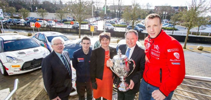 Breen and Meeke at Circuit of Ireland Launch