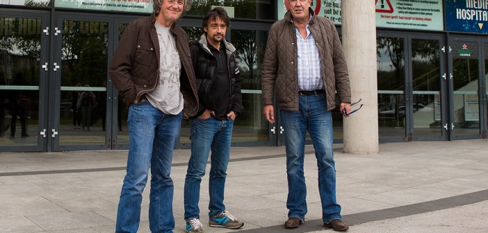 Clarkson, Hammond and May arrive in Belfast
