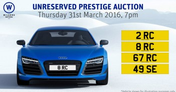 Wilsons Auctions Mallusk Unreserved Prestige Auction, Thurs 31st March 2016
