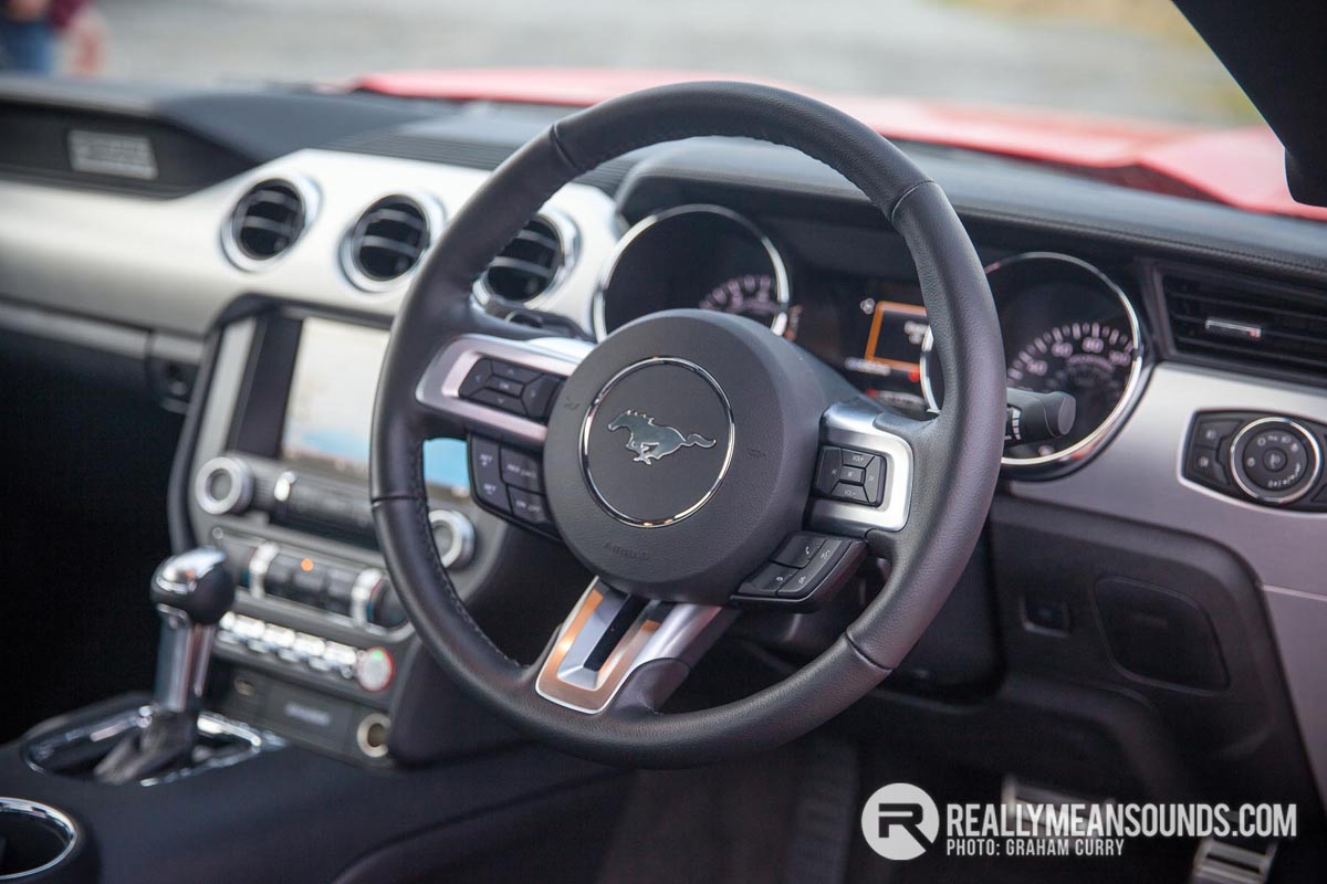 Ford Mustang Steering Wheel. Image by Graham Curry.
