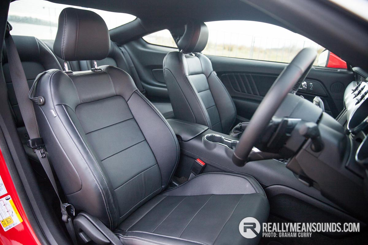 Ford Mustang seats. Image by Graham Curry.