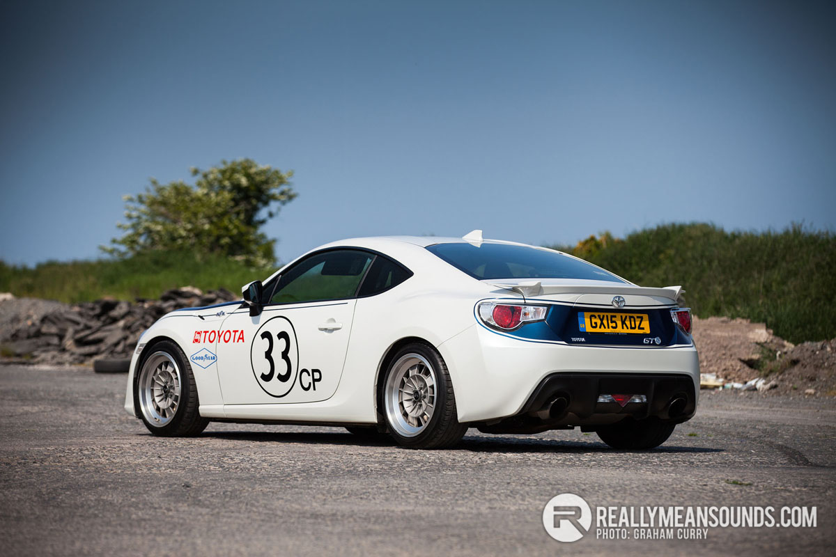 Back of Toyota GT86