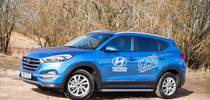 Side of Hyundai Tucson