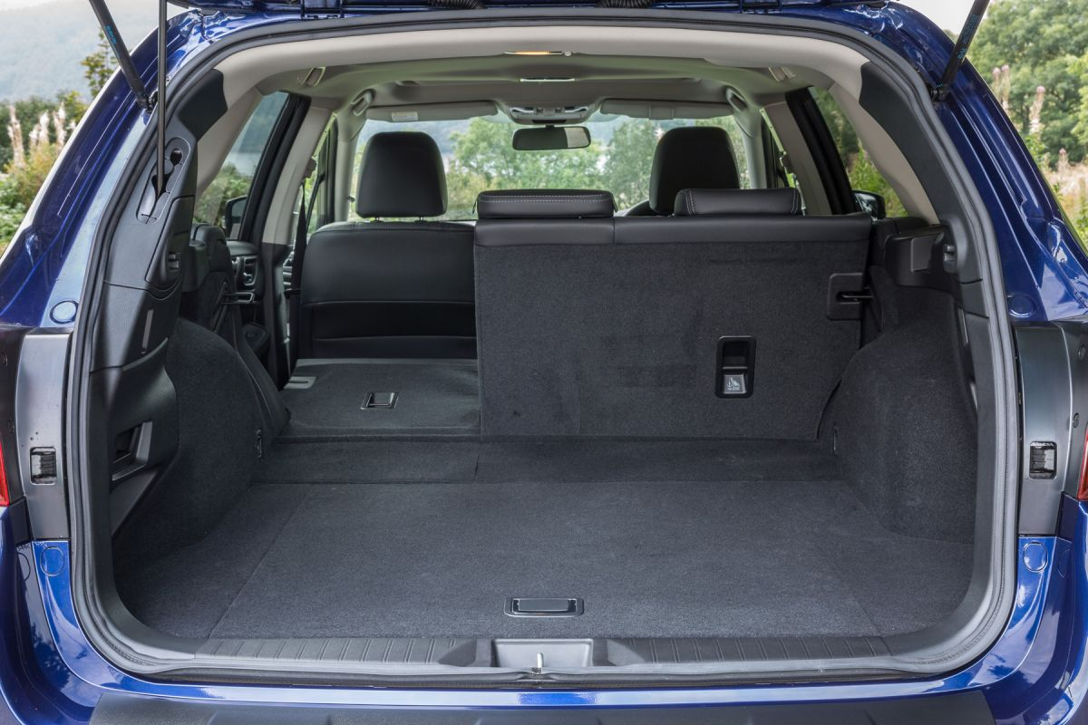 Boot of Subaru Outback