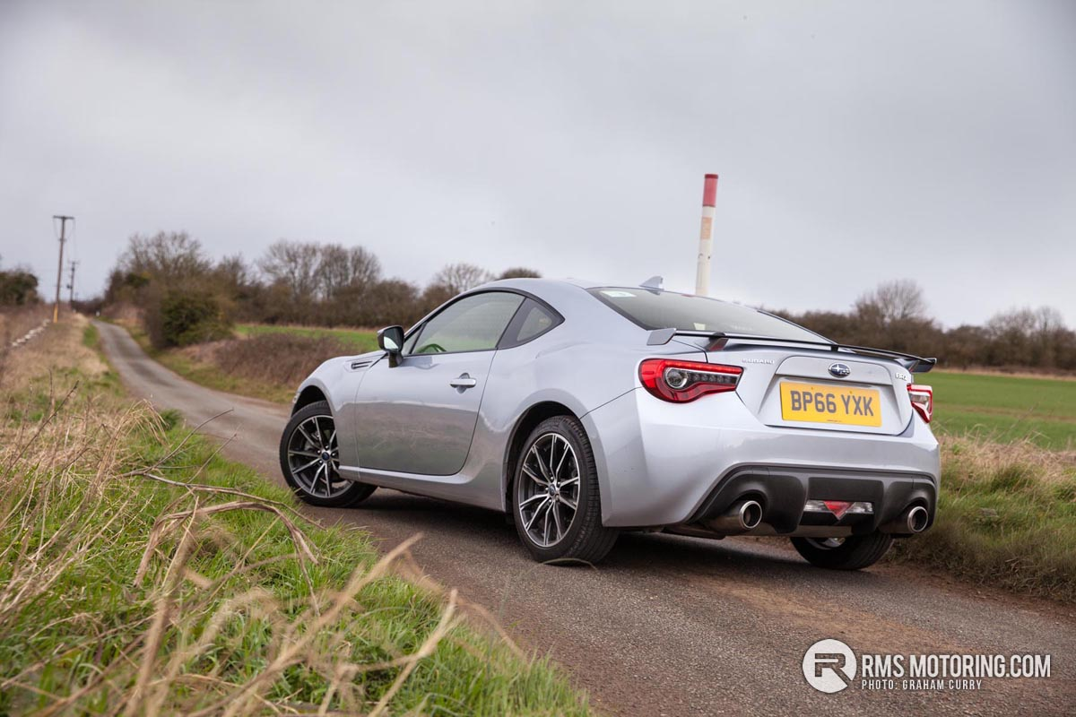 Rear of Subaru BRZ
