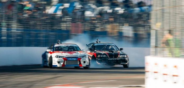 Drifting: James Deane smokes them all in Formula D
