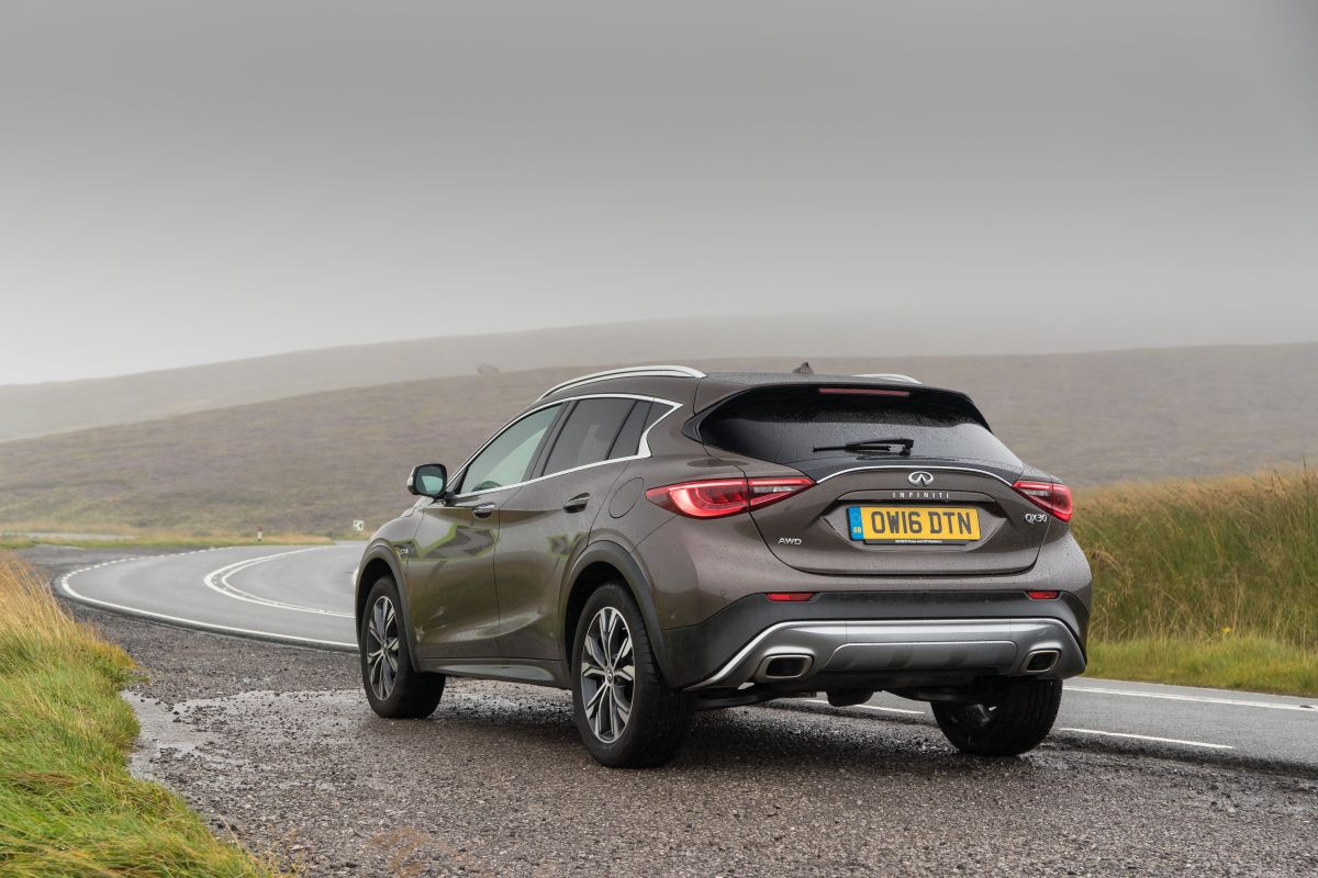 Rear of Infiniti QX30