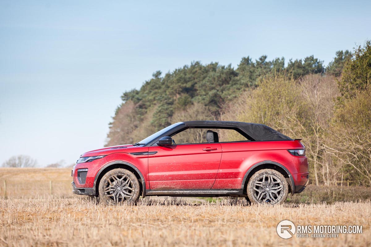 Side of Range Rover Evoque