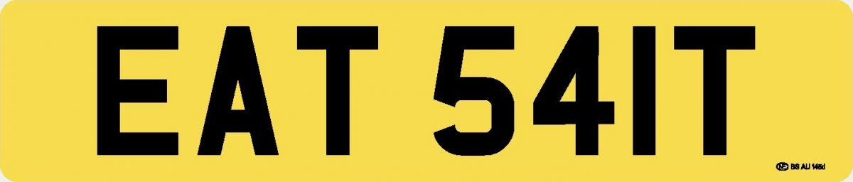 Personalised Number Plate – 'EAT 541T'
