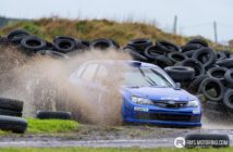 Derek McGarrity splashing his way to victory on the New Year Stages 2018 at Kirkistown