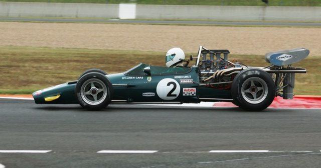 Side of Alain Girardet's McLaren M10B