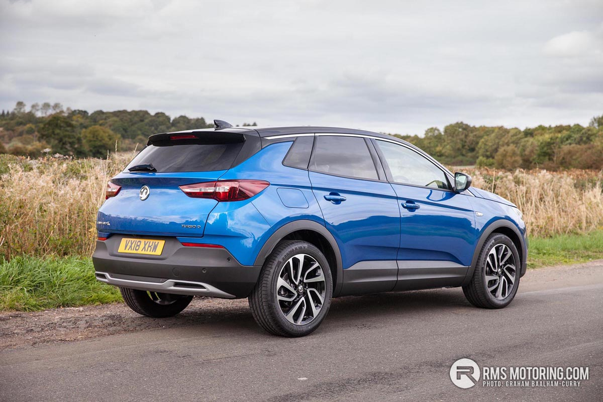 Rear of Vauxhall Grandland X