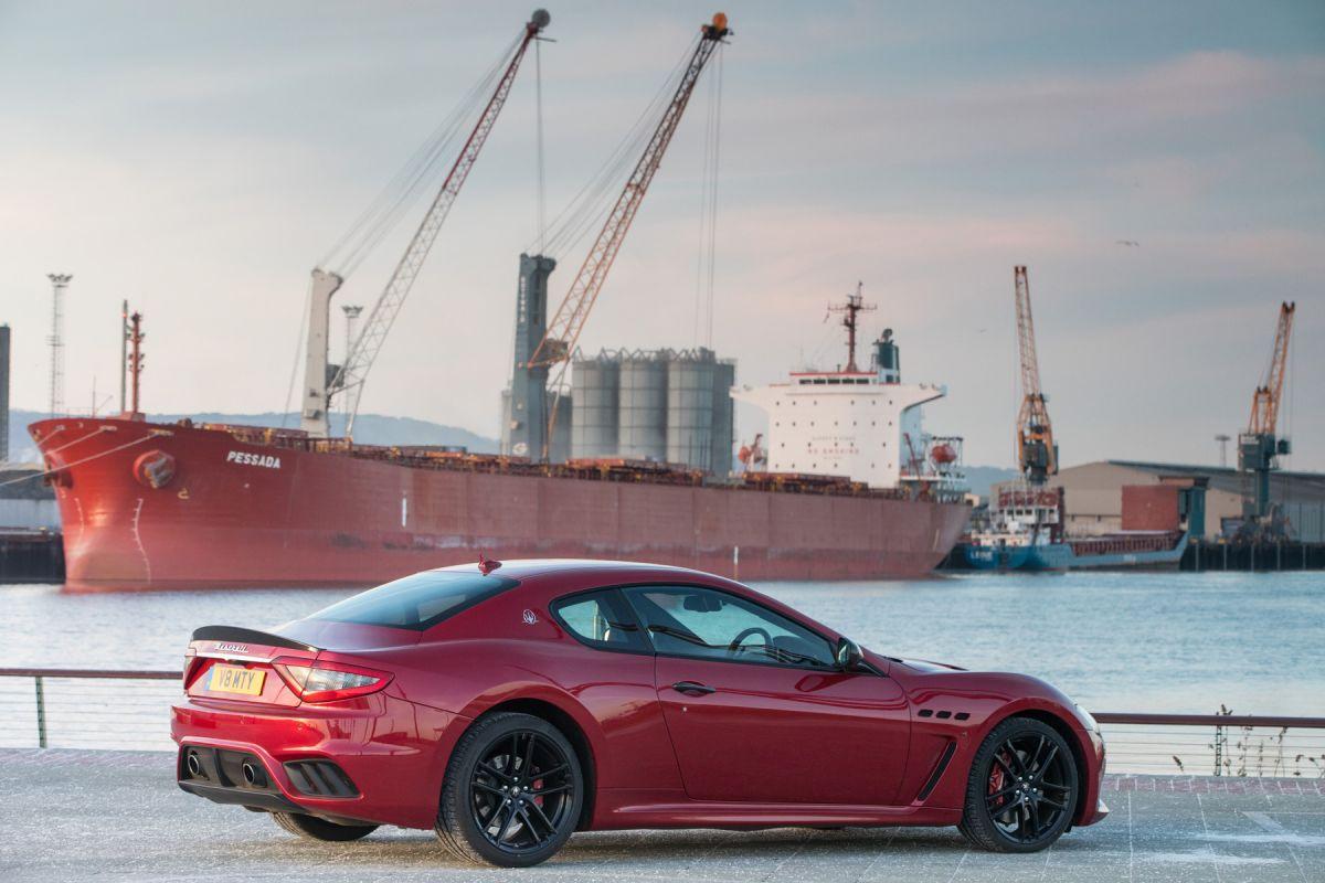 Rear of Maserati Grantourismo